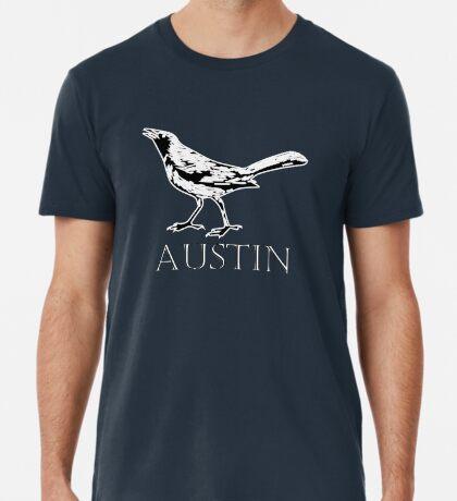 Austin Grackle - Black and White Premium T-Shirt
