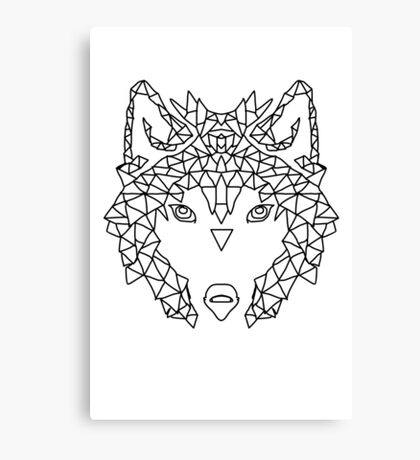Wolf Face triangles poster illustration  Canvas Print