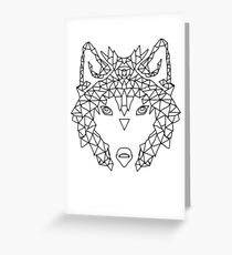 Wolf Face triangles poster illustration  Greeting Card