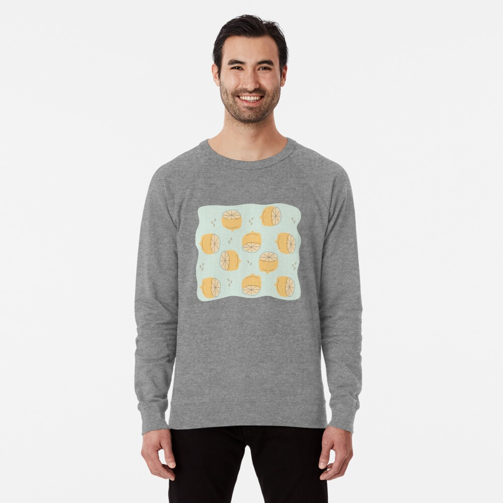 Lemon Pattern Illustration Lightweight Sweatshirt