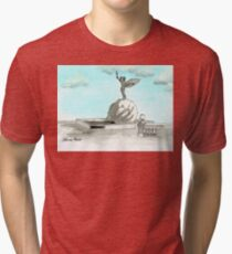 Daily Doodle 28- En Plein Air - Jacksonville Memorial Park Tri-blend T-Shirt