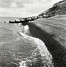 The pebble coastline at Sheringham, Norfolk, UK by Richard Flint