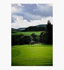 Along the Green.    Ballater golf course Scotland Photographic Print