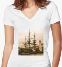 Pirates - Antique Women's Fitted V-Neck T-Shirt