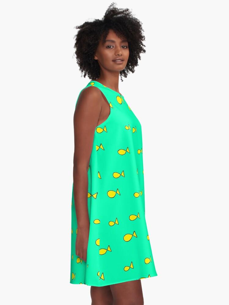 Alternate view of princess caroline oh fish print A-Line Dress