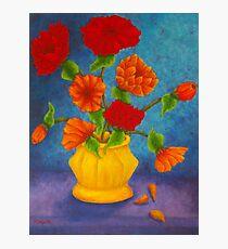 Red & Orange Flowers Photographic Print