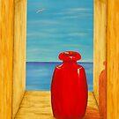 Red Vase by Allegretto