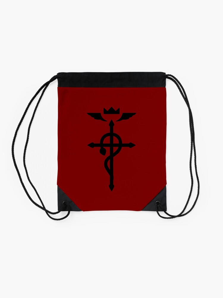Alternate view of Fullmetal Alchemist - Flamel Insignia (Black) Drawstring Bag
