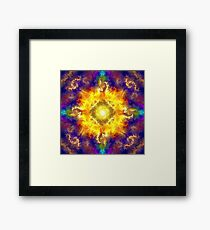 The Beauty of Staring Too Long at the Sun Framed Print