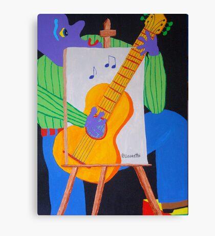 Vinny & The Van Goes 1 Canvas Print