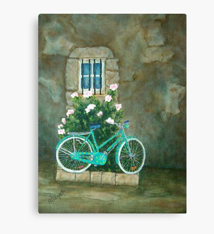Bicycle 3 Home for Lunch in Rome Canvas Print