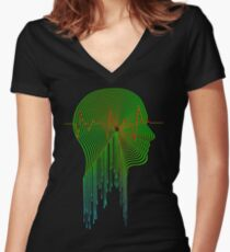 Audio Visual Women's Fitted V-Neck T-Shirt