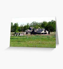 Abondoned on the Prairies Greeting Card