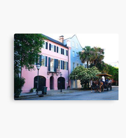 Rainbow Row in Charleston Canvas Print