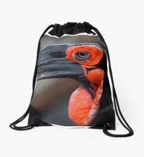 African Ground Hornbill Drawstring Bag