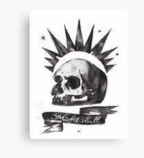Chloe's Shirt - Misfit Skull Canvas Print