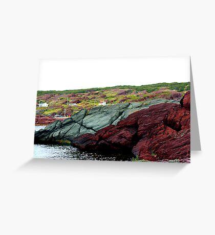Red Rock Green Rock Greeting Card