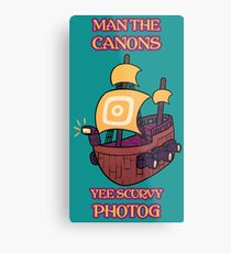 Man the Canons Metal Print