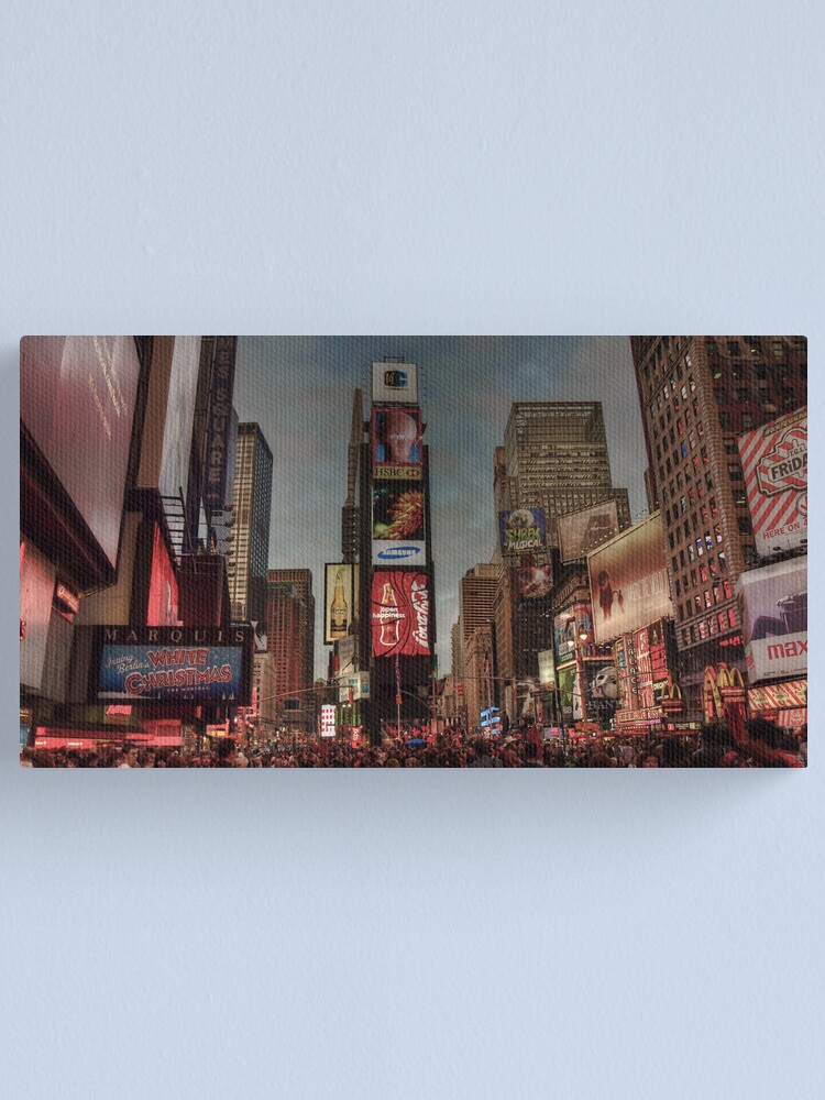 Alternate view of Times Square in the evening Canvas Print