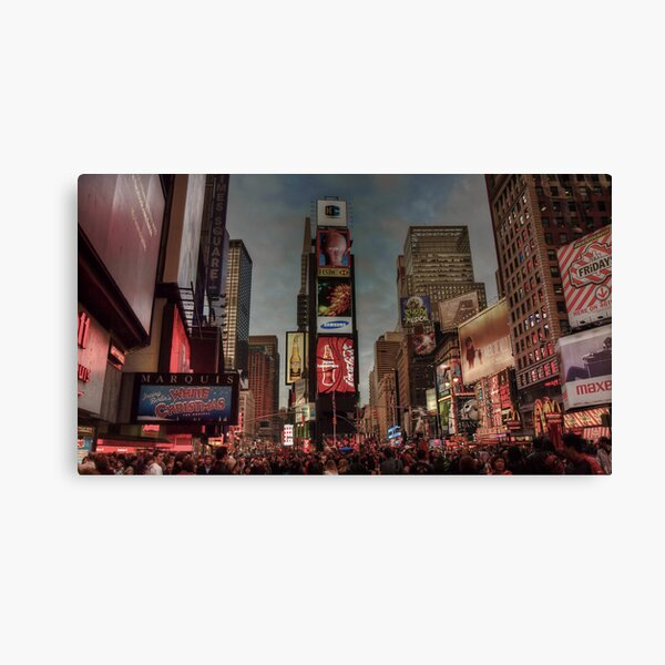 Times Square in the evening Canvas Print