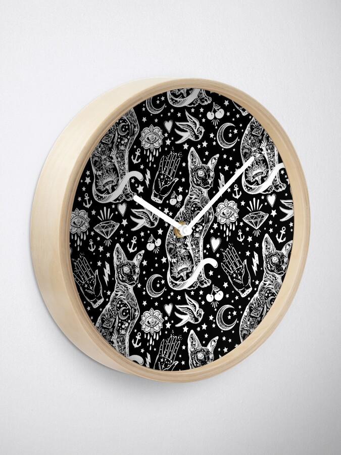 Vista alternativa de Reloj Diseño abstracto de los gatos del espacio.