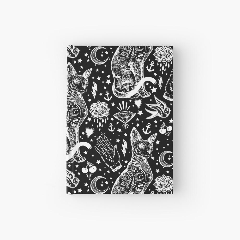 Diseño abstracto de los gatos del espacio. Cuaderno de tapa dura