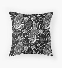 Space cats abstract design Floor Pillow