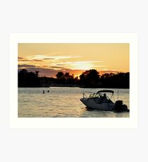 watching the sunset on the st. lawrence Art Print