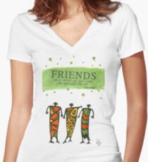 Friends Stand Beside You T-Shirt Women's Fitted V-Neck T-Shirt