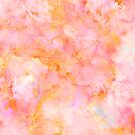 Beautiful Rosé and Sunny Marble - pink, coral and orange by Dominiquevari