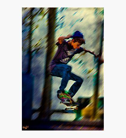Skateboading Photographic Print