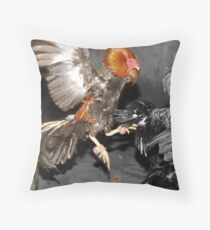 Pinoy Fighting Cock Throw Pillow