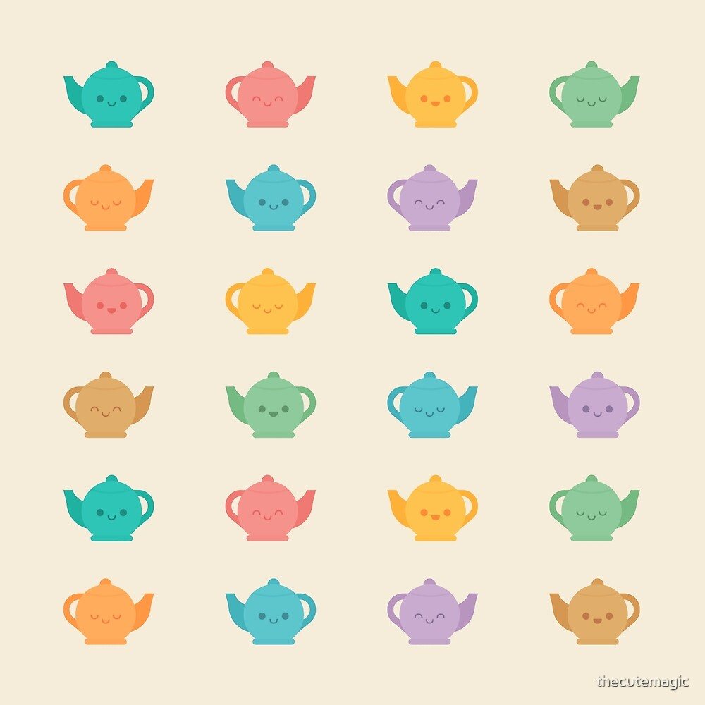 Cute Kawaii Teapots by thecutemagic