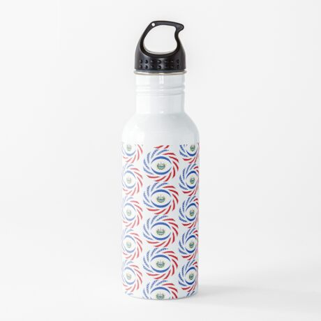 Salvadoran American Multinational Patriot Flag Series Water Bottle