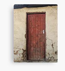 Red wooden door Canvas Print
