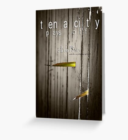 Tenacity Pays Off © Vicki Ferrari Photography Greeting Card