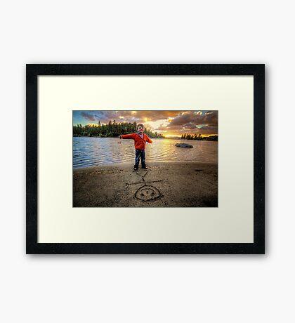 Stick Sam Framed Print