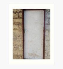 Old white door Art Print