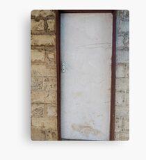 Old white door Canvas Print