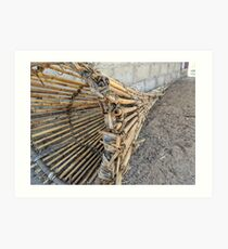 Traditional wooden fish trap Art Print