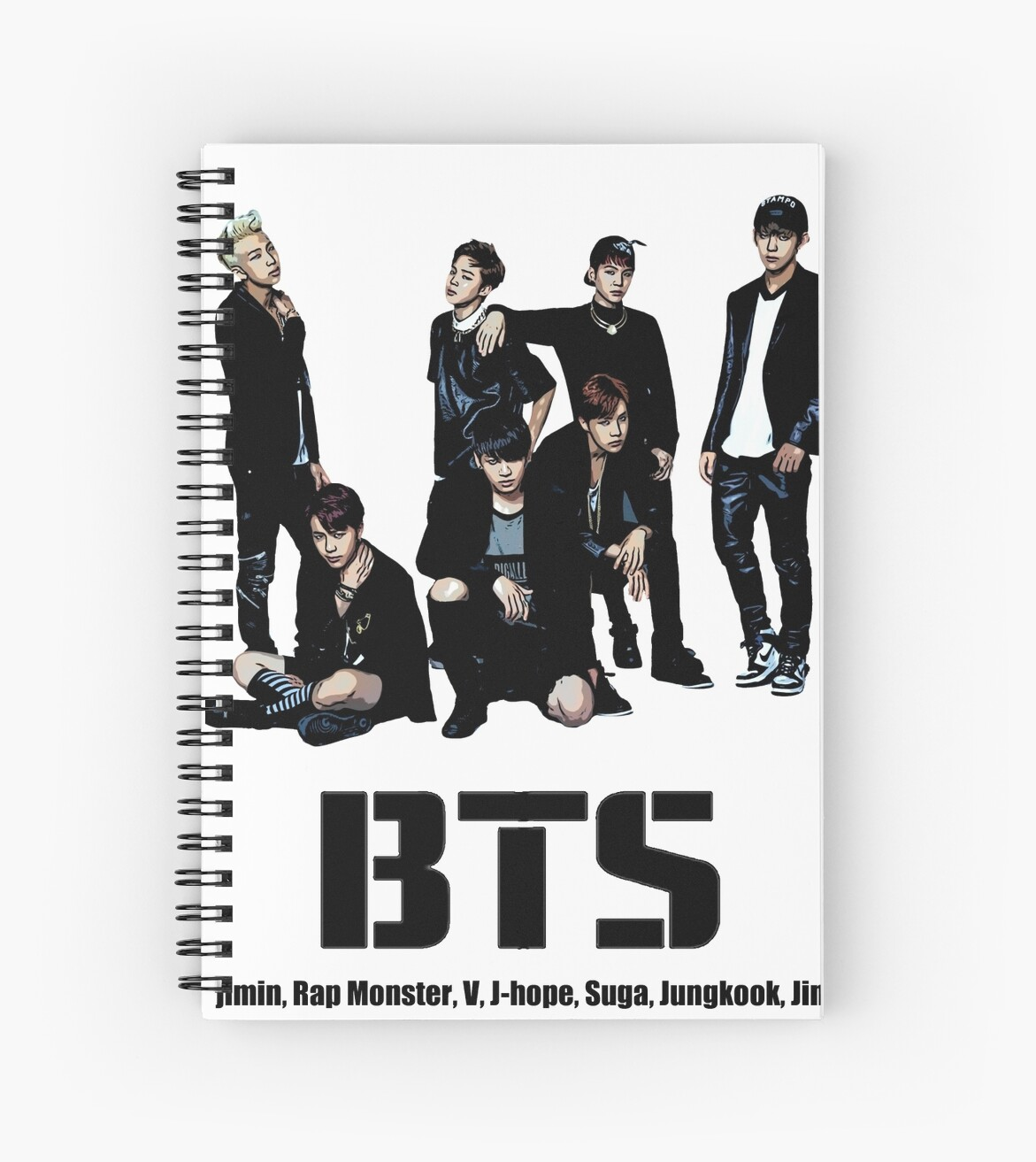 Quot Bts Bangtan Boys Quot Spiral Notebooks By Kpoplace Redbubble