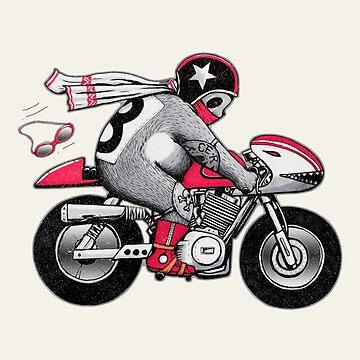 Cafe Racer Bear by Illustratorial