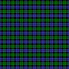 Green and blue tartan plaid by rlnielsen4