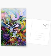 Abstract Fruits Postcards