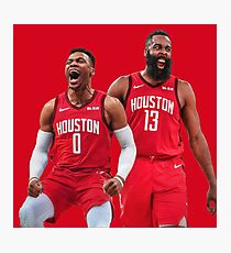 Russell Westbrook James Harden Rockets Photographic Print