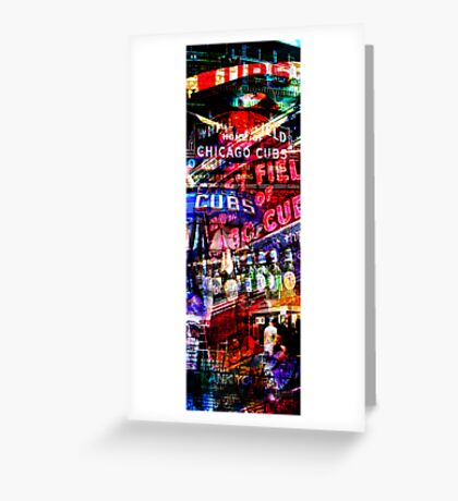 chicago cubs montage Greeting Card