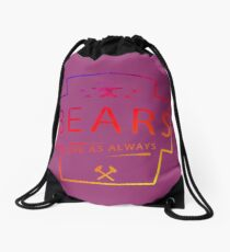 Colourful Bears Love Motif Drawstring Bag