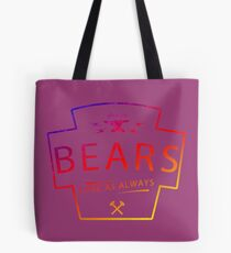 Colourful Bears Love Motif Tote Bag