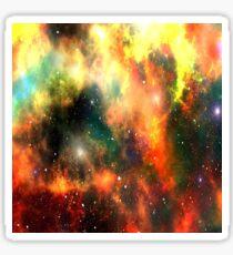 Pegatina Galaxy Nebula Design Orange Yellow Sky Scene