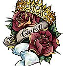 Queen of Diamonds digital vector design by Bazuta